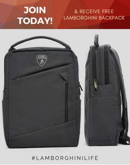 Lamborghini Club America Backpack Giveawa