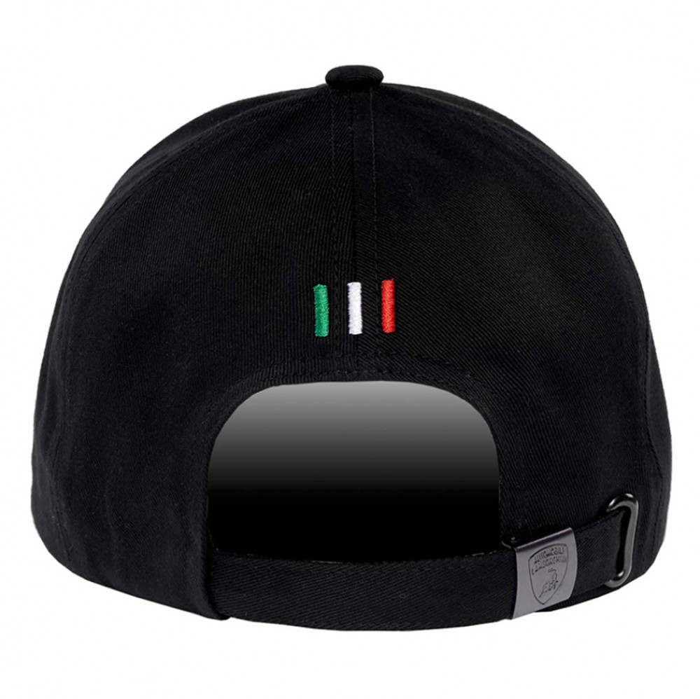 72732b54c0924 Lamborghini Black Shield Hat