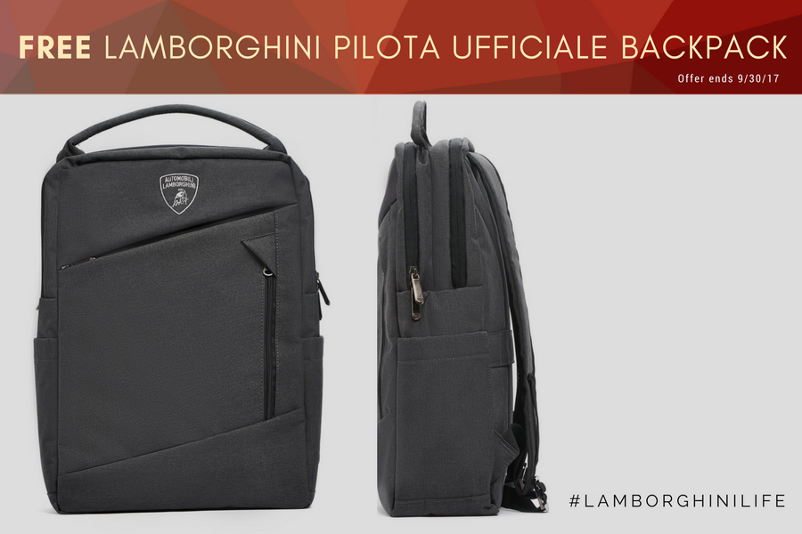 New VIP Members Receive Lamborghini Backpack