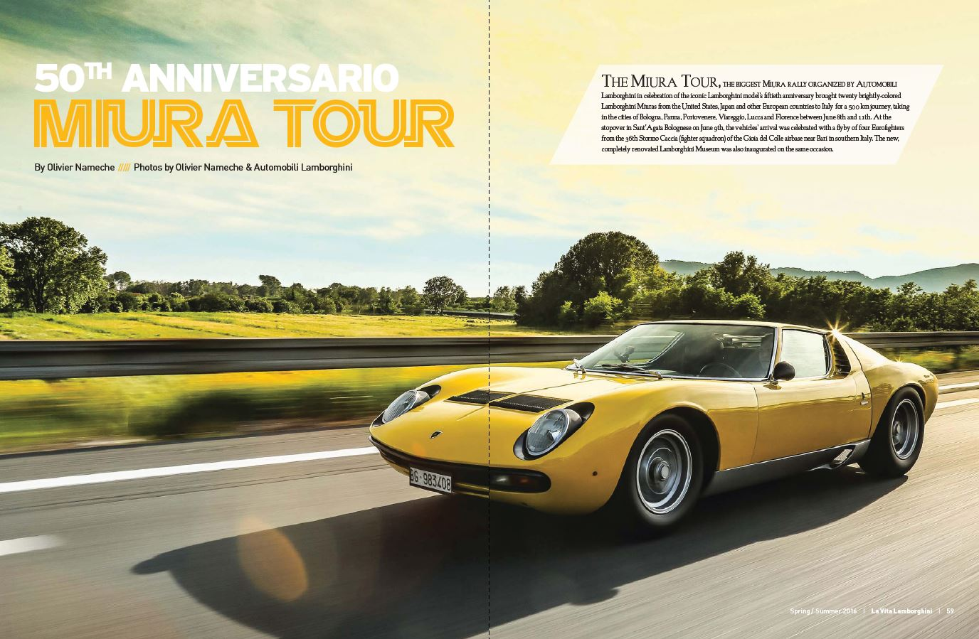 The 50th Anniversario Miura Tour