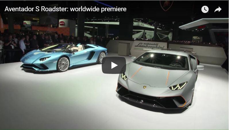 Aventador S Roadster: Worldwide Premiere