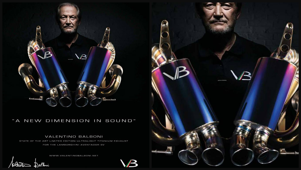 VALENTINO BALBONI and the Aventador Exhaust System Bearing his Name