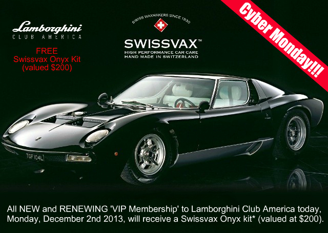 Cyber Monday: FREE Swissvax Kit with VIP Membership Renewal or Purchase